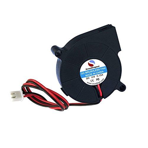 Tiamu 2 Piezas Ventilador Soplador de Enfriamiento 12V 0.15A 50Mmx15Mm Ventiladores para Impresora 3D Humidificador Aromaterapia Y Otros Series de Pequenos