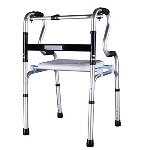 BXU-BG Rollators ancianos Walker andador de aluminio muletas for minusválidos pie antideslizante bastón con el Hospital