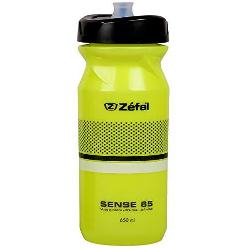 Zefal Unisex's Sense M65 Botella de agua, amarillo, 650 ml