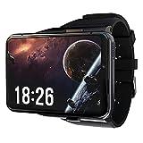ZGLXZ Smart Watch Men's Smart Touch Pantalla De Color 4G WiFi Dual Cámara Video Call Android Watch Monitor De Frecuencia Cardíaca Móvil 4G + 64G Gaming Smart Watch,Negro