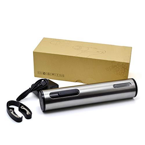 RCruning-EU Sacacorchos del Vino, Sacacorchos De Acero Inoxidable, Aluminio Cuchillo De La Hoja Incluido, USB