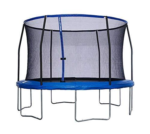 Sportspower Trampolin 3,66 m Gartentrampolin Fitnesstrampolin mit Sicherheitsnetz, gepolsterten Stangen Ø 366 cm