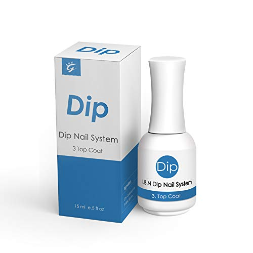 High Shiny Dip Powder Top Coat 15ml/Bottle (Added Calcium & Vitamin) for Dipping Powder Nail Salon At Home Use DIY Manicure (Top Coat)