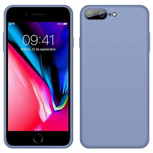iPhone 8 Plus Funda, LaimTop Slim Silicona Líquida Estuche Suave Caucho Absorción de Golpes Anti-Arañazos Carcasa Protectora para iPhone 7 Plus / 8 Plus Gris