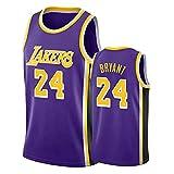 GRYUEN Hommes Femme NBA Lakers 24# Kobe Bryant Maillot T-Shirt de Basket-Ball Uniforme de...