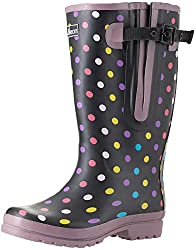 Polka Dots Rain Boots For large Calves