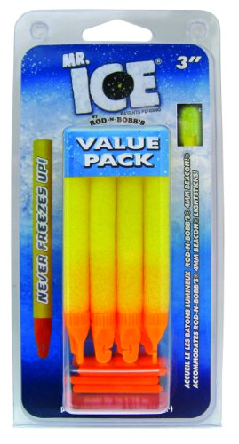 Rod-N-Bobbs MR3YC Mr Ice Bobber (12-Pack), 3-Inch, Yellow