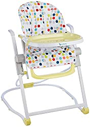 Compact and Lightweight: the Badabulle highchair folds and unfolds easily: It can be stored flat or standing up Comfortable: This chair is height-Adjustable(5 positions) for easy social interaction, meal times, play and rest. Multi-position: This bab...