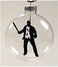 Merch Massacre Jason Vorhees Friday The 13th Ornament Glass Disc