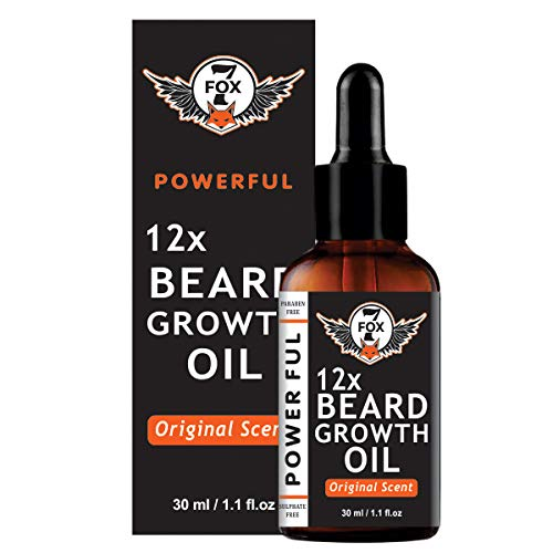 7 Fox Natural & Organic 12x Beard Growth Oil, 30ml