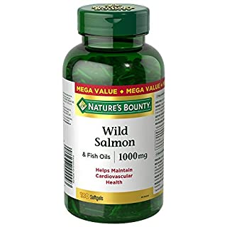 Nature's Bounty Wild Salmon Fish Oil Pills, Supplement, Helps Maintain Cardiovascular Health, 1000mg, 180 Softgels (B00BMEIDQ6) | Amazon price tracker / tracking, Amazon price history charts, Amazon price watches, Amazon price drop alerts