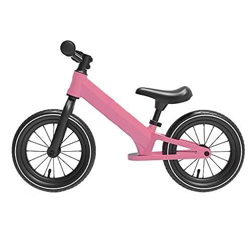 Wushu Bicicleta De Equilibrio Bicicleta Sin Pedal para First Bike para Niños De Manillar Y Sillín Ajustables(Color:Rosa)