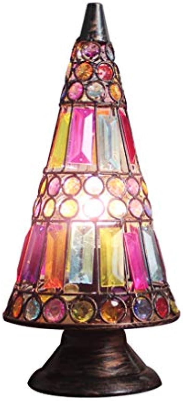 Tischlampe,Tischleuchte,Nachttischlampe,Schreibtischlampen,Retro Metall Dreieck Kreative Persnlichkeit Tischlampe (15  12  35 cm) (Farbe   Dimmschalter)