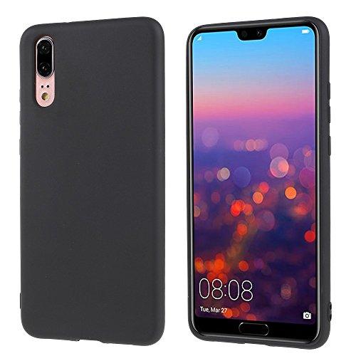CoverKingz Handyhülle für Huawei P20 - Silikon Handy Hülle Huawei P20 - Soft Hülle in matt schwarz
