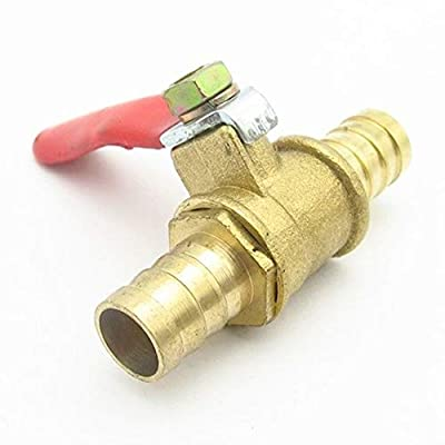 ATEYC Ball Valve, Hose Barb Equal Two Way Brass Globe Valve, Pneumatic Shut Off Ball Valve Pipe Fitting Connector Coupler Adapter (Size : 12mm Hose Barb) from ATEYC