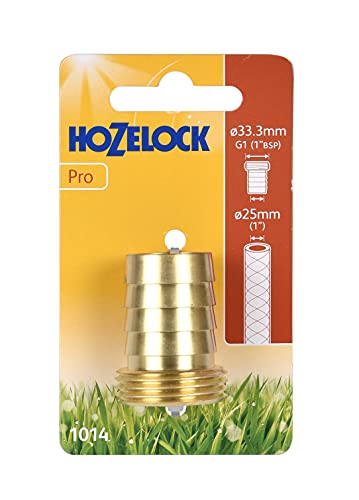 Hozelock Tricoflex 10140000latón Grifo 1AG de 25mm de diámetro, Oro, 12x 7x 3,68cm