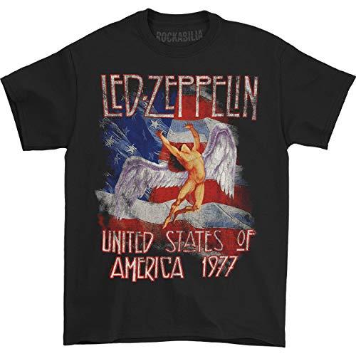 Camiseta de Led Zeppelin para hombre «América, 1977», talla pequeña