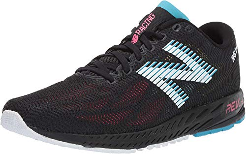 New Balance Women's 1400 V6 Running Shoe, Black/Pink Zing, 7.5