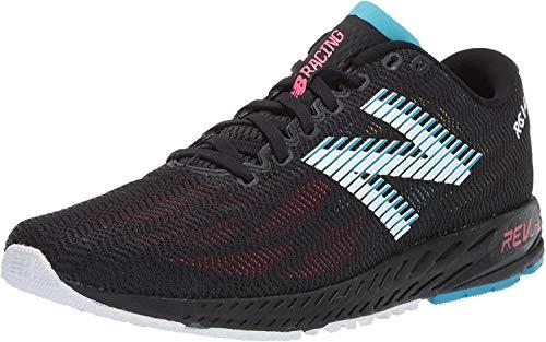 New Balance Women's 1400 V6 Running Shoe, Black/Pink Zing, 7.5 M US