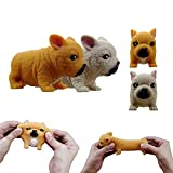 2 Chubby Pugs Sensory Gadgets Toy Set can Relieve Stress for Adults and Children Provides Tear-Resistant Ideal Stress and Anxiety Relief for Children Boys and Girls (Yellow Brown)