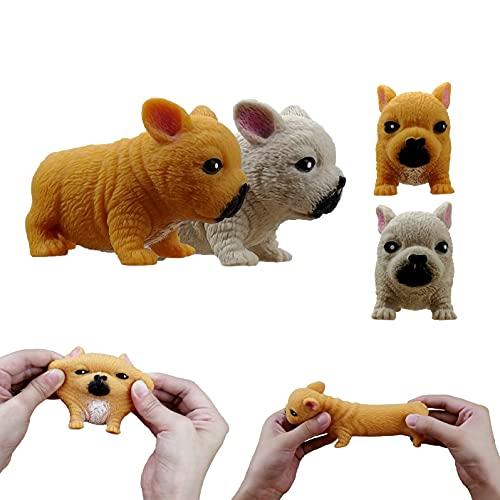 HENGLE The Shape of 2 French Bulldogs relieves Stress. Toys for Children and Adults. The Critter squeezes Anxiety. The Best Gift for Stress Reduction and Fat Dog-Shaped Reaction Force ADHD and Autism
