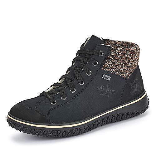 Rieker Damen Stiefel Z4243, Frauen Winterstiefel,riekerTEX, Woman Freizeit leger Winter-Boots schnürstiefel warm,Pazifik/Terra / 14,39 EU / 6 UK