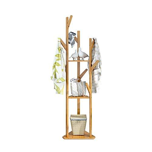 FUFU Garderobe-freier stehender Eingangs-hölzerner Kleidungs-Gestell-Hut-Eckhallen-Regenschirm-Stand-Baum für Schlafzimmer-Wohnzimmer-Büro