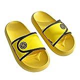 Sandalias de verano unisex con personalidad, cómodas, antideslizantes, para interior, para casa, playa, tiempo libre, color Amarillo, talla 41 EU