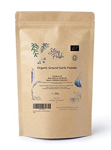 Stay Fresh Organics Certified Organic Ground Garlic Powder 200g Certified...