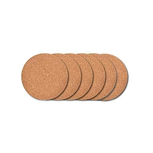 JIAYAN Untersetzer aus natürlichem, rundem Holz, 6/10/20 Stück, für Tee, Kaffee, Getränke, für selbstgemachte Geschirr, Dekoration, langlebig, 1, rund, 9 x 9 cm
