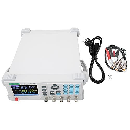 Medidor de puentes digital LRC Benchtop de escritorio, medidor de puente, resistencia de condensador, impedancia de medición de inducción, comprobador (enchufe europeo)
