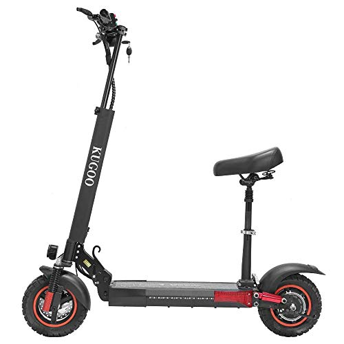 E Scooter mit Sitz, Elektro Scooter 45km/h, 12.5Ah 500W schnell Elektroscooter Klappbar E Roller Faltbar, bis zu 55-65KM Reichweite, E-Scooter für Jugendliche und Erwachsene