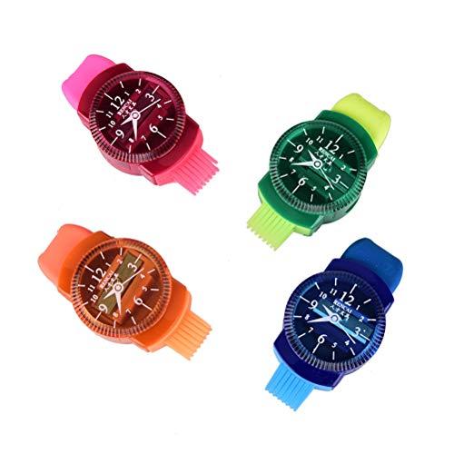 Relojes de Pulsera en rodajas sacapuntas sacapuntas Modelado con Goma de borrar y Cepillo Escuela de papelería