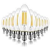 Energetic Dimmable E12 LED Candelabra Bulb, 60 Watt Equivalent B11 LED Chandelier Light Bulbs, Soft White 2700K, 550 Lumens, Candle Base Bulb for Ceiling Fan, UL Listed, 12 Pack