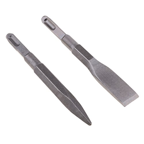 Sharplace Square Stainless Steel Chisels And Flat Tools 14mm X 150mm for Wall Granite, Reinforced Concrete