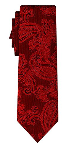 Cravate soie paisley pattern red