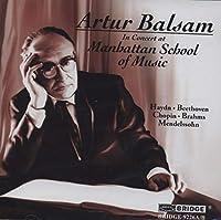 Artur Balsam in Concert at the Manhattan School of