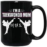 I'm A Taekwondo Mom Proud Mom Martial Arts USA Womens Funny Grandma Instructor Black Mug