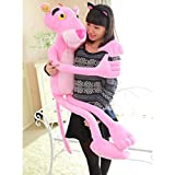 N-brand 1Pcs 100-130cm Pink Panther Stuffed Plush Toy Big Panther Dolls Leopard Plush Dolls for Teenagers Very Soft