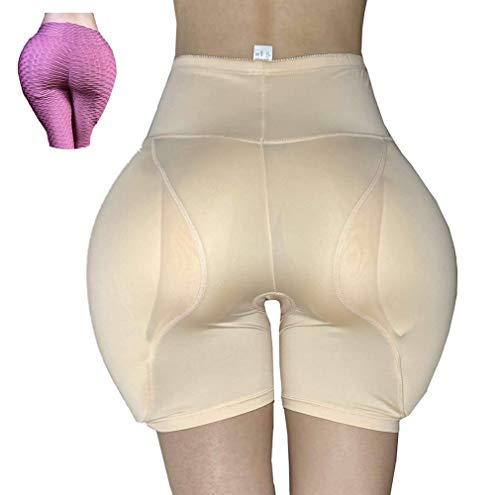 Jolie Crossdresser Butt Hip Enhancer Gepolsterte Shaper Höschen Pralle Hüftpolster Damen Transgender Fake Ass Unterwäsche,Beige,XXL