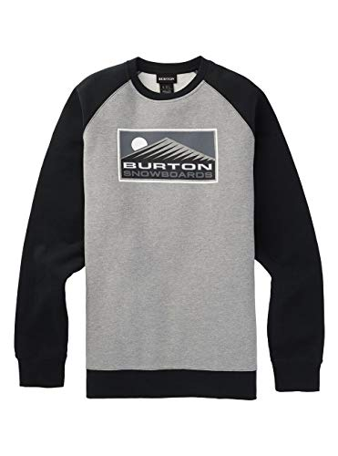 Burton Herren Vista Sweatshirt, Gray Heather, L