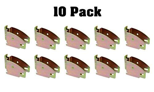 ABN E Track Wood Beam Socket Fittings - 10 Pack Wood Beam Brackets E Track Accessories Cargo Storage Lumber Bracket