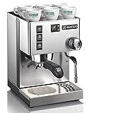 Rancilio Silvia V6 Espresso Coffee maker and espresso machine 220-240V, 15 bar Pump, Stainless Steel (14kg) 1 Year warranty, Black, Regular