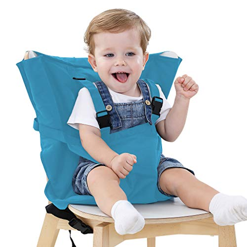 Why Choose Easy Seat Portable High Chair Safety Washable Cloth Harness Travel High Chair for Infant Toddler Feeding with Adjustable Straps Shoulder Belt (Light Blue) …