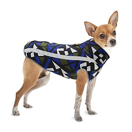 MEROURII Hundejacke,Hundemantel Hunderegenmantel Hundepullover Winter Warm Winddichte wasserdichte Hundeweste mit reflektierenden Streifen Hundekleidung für kleine mittelgroße Hunde