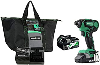 Metabo HPT WH18DBFL2T 18V Cordless Impact Driver   Includes 2 Batteries (1) 36V/18V Multivolt 5.0Ah & (1) 18V Compact 3.0Ah Battery   1,522 in-lbs of Torque   Up to 3,100 Rpm 3,400 BPM   Brushless