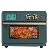 Forno A Convezione da 25 L con Friggitrice, 1800 W Alta Temperatura + Controlli Timer, Cottura al Forno, Pane Tostato, Griglia, Frittura Ad Aria