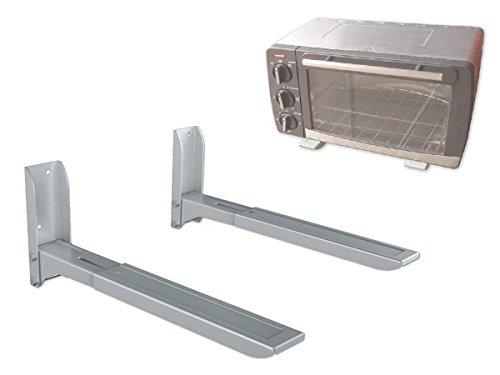 DRALL INSTRUMENTS Soporte de Pared Universal Soporte de microondas Plata Altavoz Cab Bluray DVD Modelo: H74S
