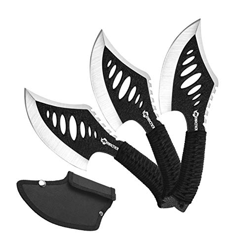 ANTARCTICA Throwing Axe,Tactical Axe with 10.2 in Full Tang Stainless Steel Design,Camping Survival Tomahawk Hatchets with Nylon Sheath for Recreation and Competition
