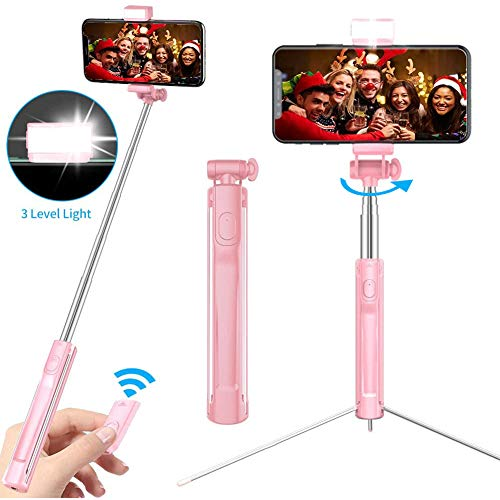 M> Selfie Stick Bluetooth, Handy Selfie Stick Smartphone Tripod Stativ Selfie-Stick-Stativ mit Spiegeln für Facetime/Adventure Shots/Instagram/Facebook Live